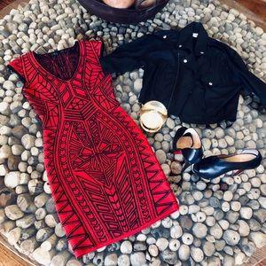 RVN Abstract Jacquard Mini Dress